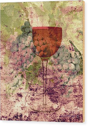 From The Vine Wood Print by Mindy Bench