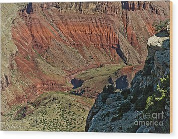 Wood Print featuring the photograph From Yaki Point 5 Grand Canyon by Bob and Nadine Johnston