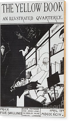 Front Cover Of The Prospectus For The Yellow Book Wood Print by Aubrey Beardsley
