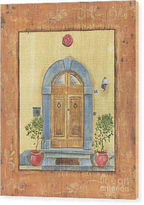 Front Door 1 Wood Print by Debbie DeWitt