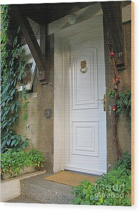 Wood Print featuring the photograph Front Door by Arlene Carmel