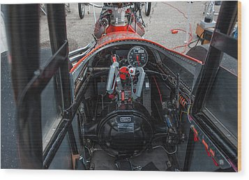 Front Engine Dragster Cockpit Wood Print
