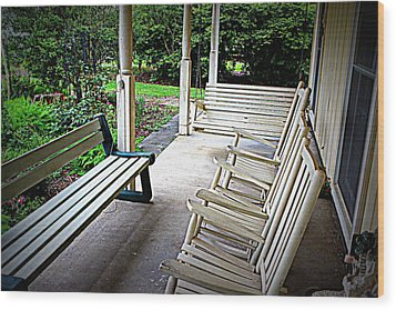 Front Porch Wood Print by Beth Vincent