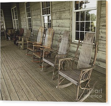 Front Porch Wood Print