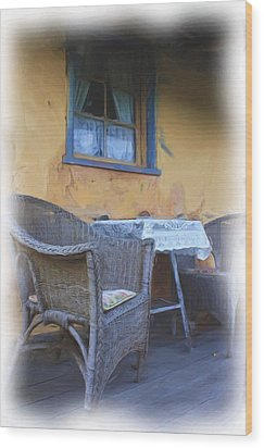 Front Porch. Wood Print by Ian  Ramsay