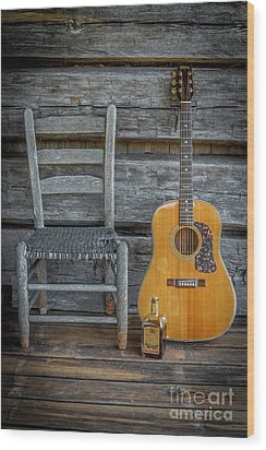 Wood Print featuring the photograph Front Porch Pick'n by Marion Johnson