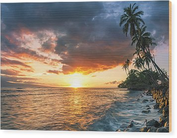 Front Street Lahaina Wood Print by Hawaii  Fine Art Photography