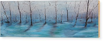Frost Like Ashes Wood Print by Meaghan Troup