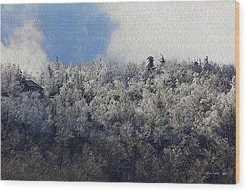 Frost Line Wood Print