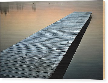 Frost On The Dock Wood Print
