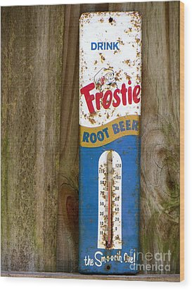 Wood Print featuring the photograph Frostie Root Beer  by Joy Hardee