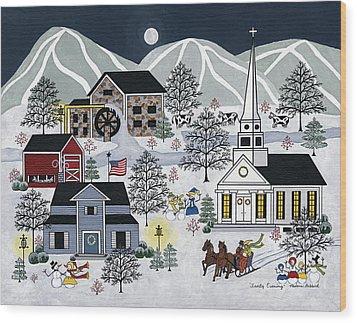 Frosty Evening Wood Print by Medana Gabbard