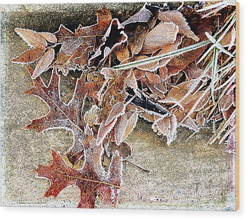 Frosty Morn Wood Print