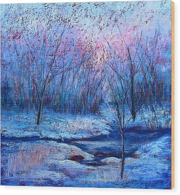 Frosty Morning Wood Print by Christine Bass