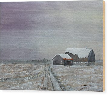 Frosty Morning Wood Print by Jack G  Brauer