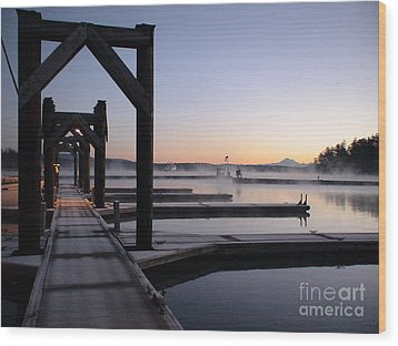 Wood Print featuring the photograph Frosty Morning by Laura  Wong-Rose