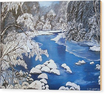 Wood Print featuring the painting Frosty Morning by Sharon Duguay
