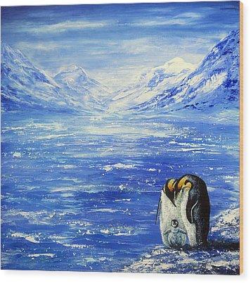 Frozen Wood Print by Ann Marie Bone