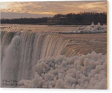 Frozen Falls Wood Print