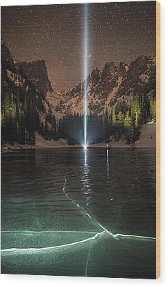 Frozen Illumination At Dream Lake Rmnp Wood Print by Mike Berenson
