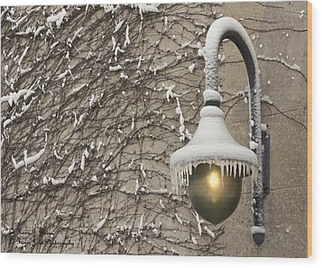 Frozen Illumination Wood Print