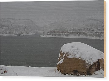 Frozen Inlet Wood Print by Harry Strharsky