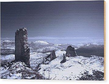 Frozen Landscape Wood Print by Andrea Mazzocchetti