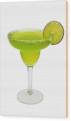 Frozen Margarita With Lime Isolated Wood Print by Danny Hooks