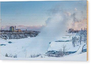 Frozen Niagara N1 Wood Print