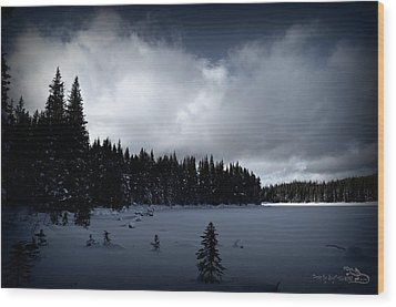 Wood Print featuring the photograph Frozen Nickel Plate Lake by Guy Hoffman