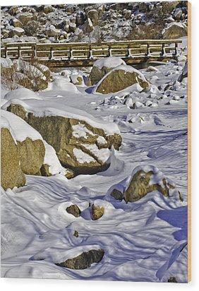 Frozen Roaring River Wood Print by Tom Wilbert