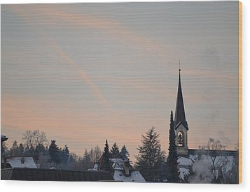 Wood Print featuring the photograph Frozen Sky 2 by Felicia Tica