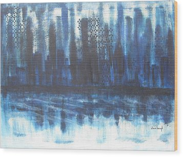 Frozen Skyline Wood Print by Diane Pape