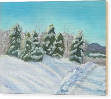 Frozen Sunshine Wood Print by Arlene Crafton