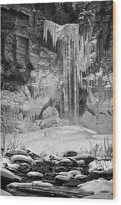 Frozen Taughannock Falls Wood Print by Monroe Payne