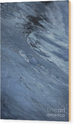 Wood Print featuring the photograph Frozen Wave by First Star Art