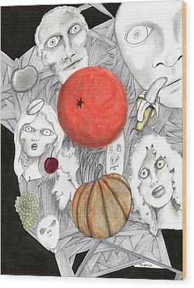 Fruit Afloat Wood Print by Dan Twyman