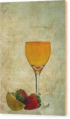 Fruit And Drink Wood Print
