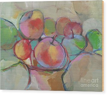 Wood Print featuring the painting Fruit Bowl #5 by Michelle Abrams