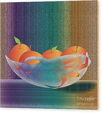 Fruit Bowl Wood Print by Iris Gelbart