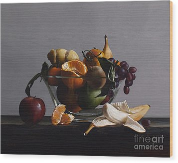 Fruit Bowl No.2 Wood Print by Larry Preston