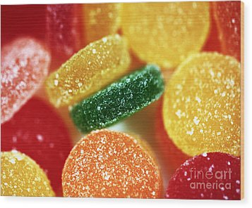 Fruit Candy Wood Print by John Rizzuto