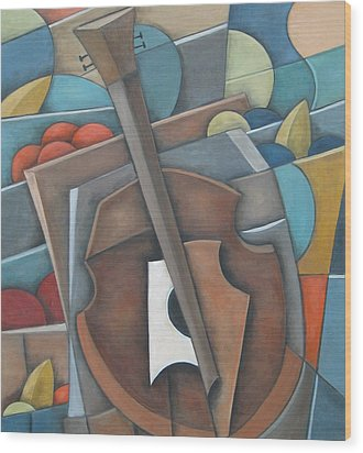 Fruit Cello Wood Print