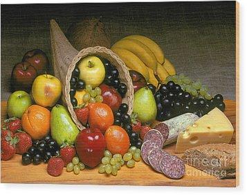 Fruit Cornucopia  Wood Print by Craig Lovell