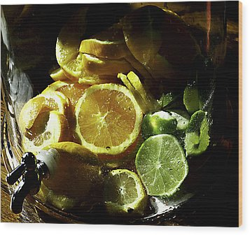 Fruit Drink Wood Print by Camille Lopez