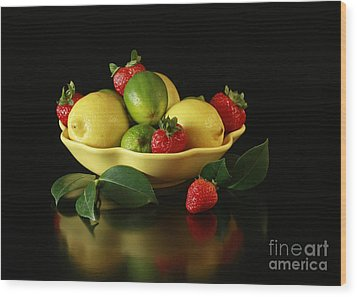 Fruit Explosion Wood Print by Inspired Nature Photography Fine Art Photography