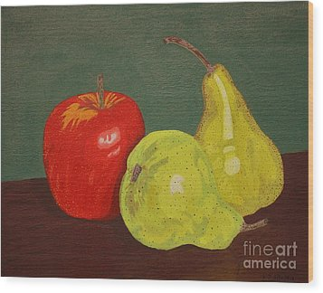 Fruit For Teacher Wood Print by Vicki Maheu