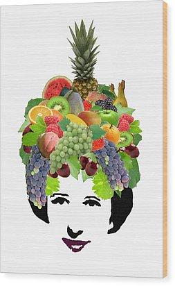 Fruit Lady Wood Print by Jennifer Schwab