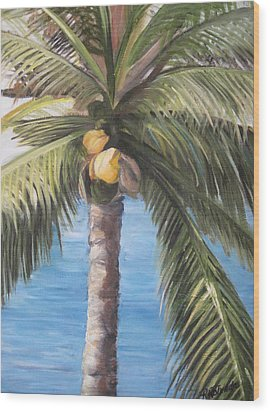 Fruit Of The Palm Wood Print by Roberta Rotunda