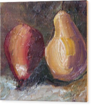 Wood Print featuring the painting Fruit Of The Same Tree by Michael Helfen